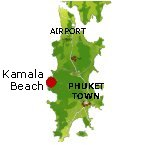 Kamala Beach Karte - Phuket Map