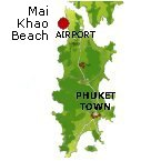 Mai Khao Beach Karte - Phuket Map