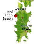 Nai Thon Beach Karte - Phuket Map