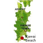 Rawai Beach Karte - Phuket Map