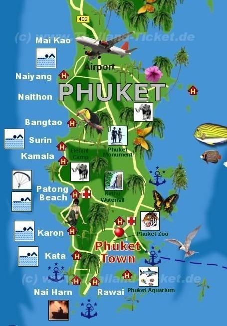 Phuket Reisef 220 Hrer Mit 450 Hotels Touristik Information Phuket Thailand