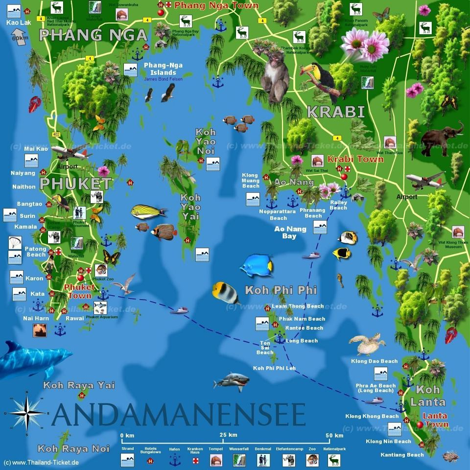 Phuket Map Andaman Sea